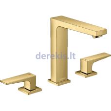 3 skylių praustuvo maišytuvas Hansgrohe Metropol 32515990, Polished Gold Optic