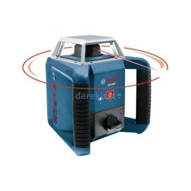 Rotacinis lazerinis nivelyras BOSCH GRL 400 H set su imtuvu, 0601061800