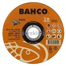 Abrazyvinis nerūdijančio plieno pjovimo diskas Bahco A60S INOX T41 125x1.0x22.23mm