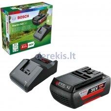 """Akumuliatoriaus ir pakrovėjo komplektas Bosch """"Starter Set"""" 36 V (2,0 Ah + AL 36V-20), F016800609"""