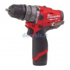 Akumuliatorinis gręžtuvas Milwaukee M12 FPDXKIT-202X, 4933464138