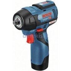 Akumuliatorinis smūginis veržliaraktis Bosch Professional GDS 12V-115, 06019E0103, 2x3.0Ah, GAL 12V-40