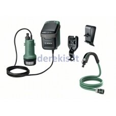 Akumuliatorinis vandens siurblys Bosch GardenPump 18, 06008C4200, 18V, 1x2,5Ah, 200L/h max., max.1,8m