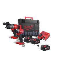 Akumuliatorinių įrankių komplektas Milwaukee M18 FPP2A2-502X + Akumuliatorius M18B5, 4933464268A
