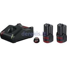 Bosch 2 X GBA 12V 2.0AH + GAL 12V-40 PROFESSIONAL, 1600A019R8