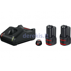 Bosch 2 X GBA 12V 3.0AH + GAL 12V-40 PROFESSIONAL, 1600A019RD