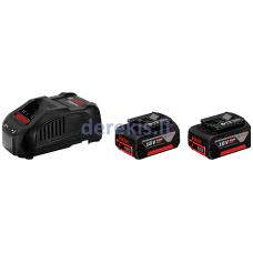 Akumuliatorių komplektas Bosch 2 x GBA 18V 5.0Ah + GAL 1880 CV Professional 1600A00B8J