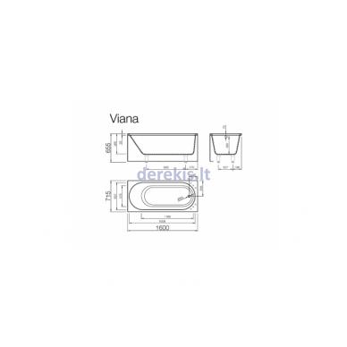 Akmens masės vonia Vispool Viana 160X70, 191010 3