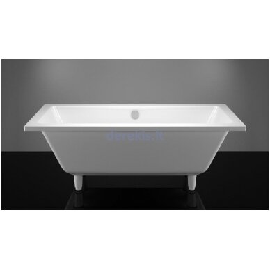 Akmens masės vonia Vispool Nordica 160X75 (su matomomis kojelėmis)