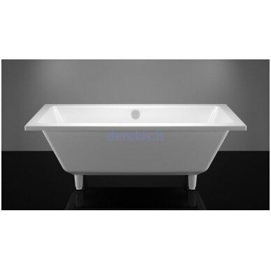 Akmens masės vonia Vispool Nordica 170X75, N010121K (su matomomis kojelėmis)