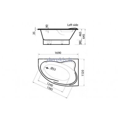 Akmens masės vonia Vispool Orte (kairė) 3