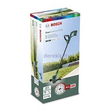 Akumuliatorinė žoliapjovė Bosch EasyGrassCut 18, 06008C1C01 (Be akumuliatoriaus ir kroviklio) 8