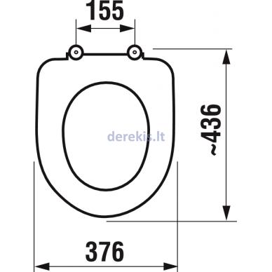 Antibakterinė sėdynė su dangčiu Jika Deep 893281 2
