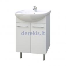 Apatinė vonios spintelė su praustuvu Kame Quadro QA60-3/P