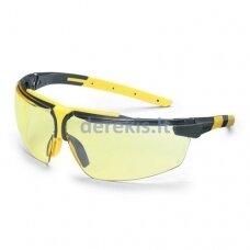 Apsauginiai akiniai Uvex i-3 s geltona linze, supravision excellence (nesibraižantys ir nerasojantys) padengimas, antracito/geltonos kojelės. Supakuota mažmeninėje kartoninėje dėžutėje 1 vnt