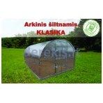 Arkinis šiltnamis Klasika 12 m2 6  mm danga + DOVANA Augalų parišimo komplektas