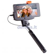 Asmeukių lazda eSTAR Selfie Stick C1 BLACK with Cable Connection