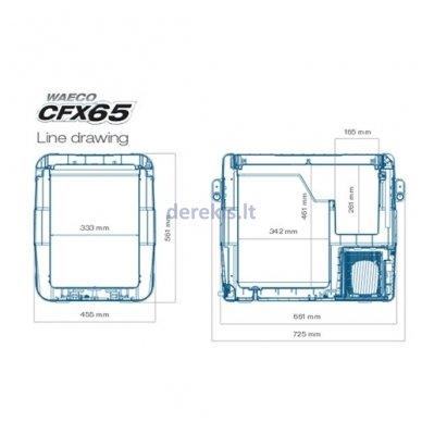 Automobilinis šaldytuvas Dometic-Waeco CFX-65 4
