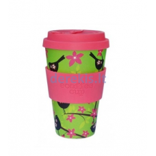 Bambuko puodelis Ecoffee cup Widdlebirdy, 400 ml