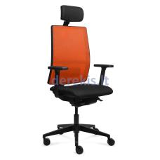 Biuro kėdė Tronhill WORK, juodas audinys/oranžinis tinklelis