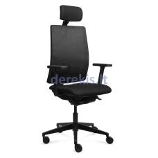Biuro kėdė Tronhill WORK, juodas audinys/juodas tinklelis