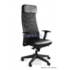Biuro kėdė Unique ARES SOFT S569-HL, natural leather: black