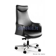 Biuro kėdė Unique BLOSSOM S-579-HL, natural leather: black