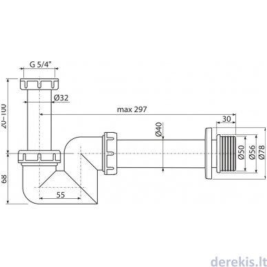 Bidet sifonas Ravak DN 40, X01560 2