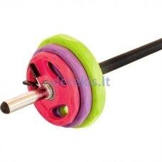 Body Pump spalvotas aerobikos komplektas Prove 20kg (METALAS TRAUKTAS GUMA)