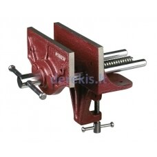 Carpenter´s bench vice with 15x5,5cm jaws, max 12cm