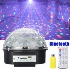 Disko rutulys - lemputė su MP3 grotuvu ir Bluetooth