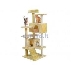 Draskyklė katėms, 120 cm, kreminė