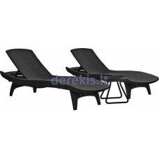 Du gultai + staliukas Keter PACIFIC 231465 grafitinė