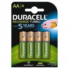 Duracell Recharge Turbo AA baterijos (4 vnt)