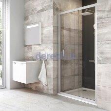 Dušo durys Ravak BLDP2-110 balta+stiklas Grafit 0PVD0100ZH