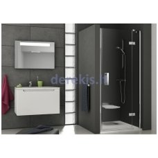 Dušo durys RAVAK SMSD2-100 (A) L chromas+stiklas Transparent (0SLAAA00Z1)