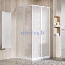 Dušo kabinos sienelė Ravak SRV2-75 195 S balta+stiklas Transparent, 14V301O2Z1