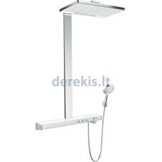 Dušo komplektas su termostatu Hansgrohe Rainmaker Select, 27028400, baltas/chromuotas