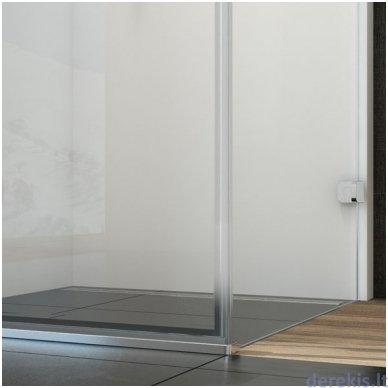 Dušo durys RAVAK BSD3-110 R chromas+stiklas Transparent 0UPD0A00Z1+D01000A087 6