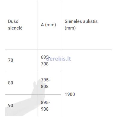 Dušo sienelė Baltijos Brasta GODA (dydį ir stiklo spalvą galima pasirinkti) 4