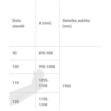 Dušo sienelė Baltijos Brasta RITA (dydį ir stiklo spalvą galima pasirinkti) 7