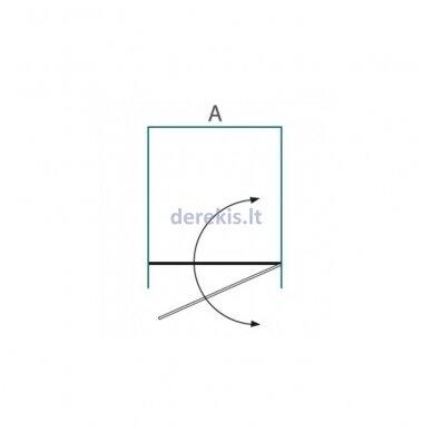 Dušo sienelė nišoms Baltijos Brasta GRETA (dydį ir stiklo spalvą galima pasirinkti) 3
