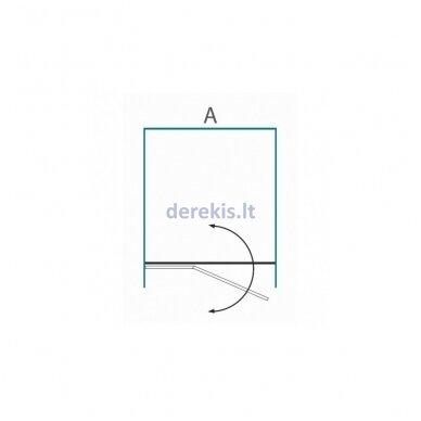Dušo sienelė nišoms Baltijos Brasta GRETA Plius (dydį ir stiklo spalvą galima pasirinkti) 3