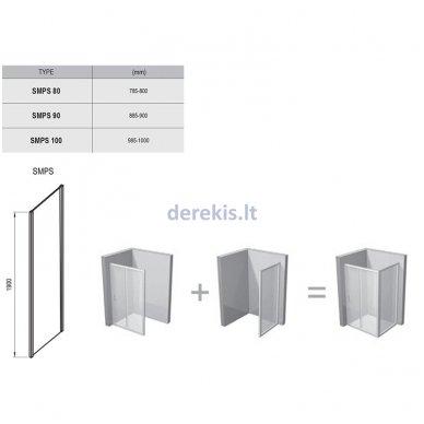 Dušo sienelė RAVAK SMPS-100 R chromas+stiklas Transparent, 9SPA0A00Z1 3