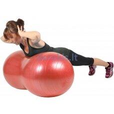 Dvigubas gimnastikos kamuolys 100x50cm MS
