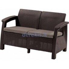 Dvivietė sofa Keter CORFU LOVE SEAT 223214 ruda