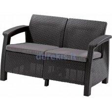 Dvivietė sofa Keter CORFU LOVE SEAT 223233 grafitinė