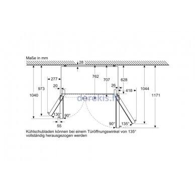 Dviduris šaldytuvas Siemens KA93GAIEP 11