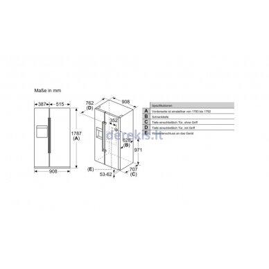 Dviduris šaldytuvas Siemens KA93GAIEP 12