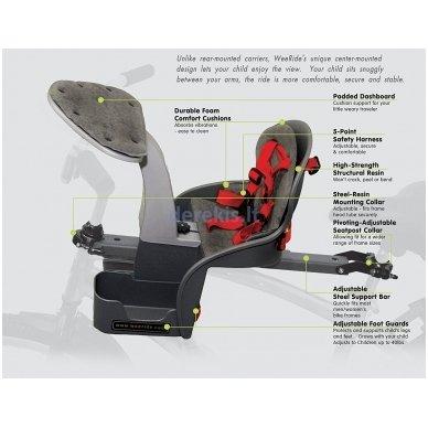 Dviračio kėdutė WeeRide SAFE FRONT CLASSIC 6